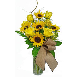 Sunflowers & Roses Bouquet from your local Clinton,TN florist, Knight's Flowers