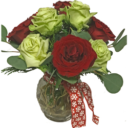 Rosy Christmas from your local Clinton,TN florist, Knight's Flowers