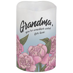 Grandma Flameless Candle from your local Clinton,TN florist, Knight's Flowers