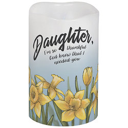 Daughter Flameless Candle from your local Clinton,TN florist, Knight's Flowers