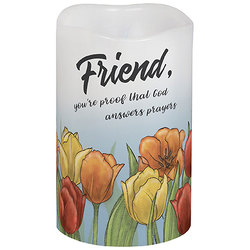 Friend, you're proof that God answers prayers Candle from your local Clinton,TN florist, Knight's Flowers