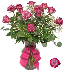 Enchanting Deep Purple Roses from your local Clinton,TN florist, Knight's Flowers