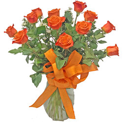 Fascinating Orange Crush Roses from your local Clinton,TN florist, Knight's Flowers