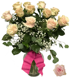 Vintage Pink Mondial Roses from your local Clinton,TN florist, Knight's Flowers
