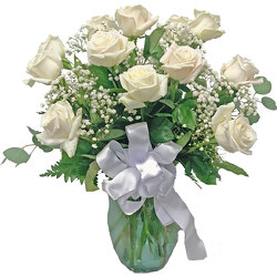 Warm White Mondial Roses from your local Clinton,TN florist, Knight's Flowers