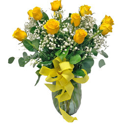 1 Dozen Devastatingly Beautiful Yellow Roses from your local Clinton,TN florist, Knight's Flowers