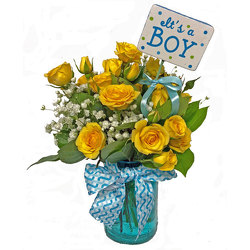 Rosy Baby Boy Bouquet from your local Clinton,TN florist, Knight's Flowers