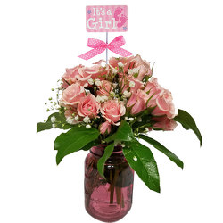 Rosy Baby Bouquet from your local Clinton,TN florist, Knight's Flowers