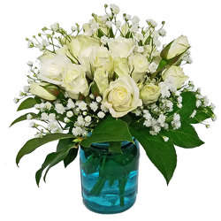 Have a Rosey Day Bouquet-White