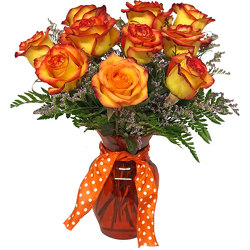 Fiery High & Magic Roses from your local Clinton,TN florist, Knight's Flowers