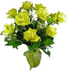 12 Stunning Yellow Roses Arranged from your Clinton, TN florist