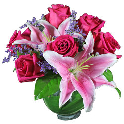 Stargazers & Roses Bouquet from your local Clinton,TN florist, Knight's Flowers