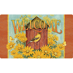 Daisy Birdhouse Doormat from your local Clinton,TN florist, Knight's Flowers