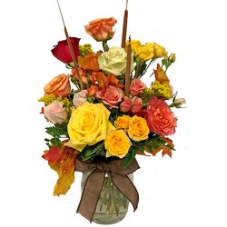 Rosey Thanksgiving Bouquet from your local Clinton,TN florist, Knight's Flowers