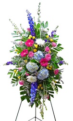 Forever Remembered Standing Spray from your local Clinton,TN florist, Knight's Flowers