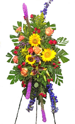 Sunny & Beautiful Standing Spray from your local Clinton,TN florist, Knight's Flowers