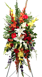Wildflower Standing Spray-Mixed Colors from your local Clinton,TN florist, Knight's Flowers
