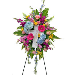 Amazing Grace Standing Spray from your local Clinton,TN florist, Knight's Flowers