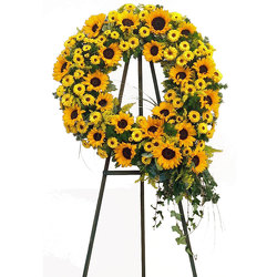 Sunflower Wreath from your local Clinton,TN florist, Knight's Flowers