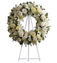Serenity Wreath from your local Clinton,TN florist, Knight's Flowers