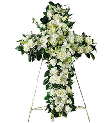 Serenity Cross from your local Clinton,TN florist, Knight's Flowers