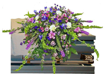 Tennessee Garden Casket Spray from your local Clinton,TN florist, Knight's Flowers