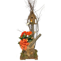 WheelBarrow Birdhouse  from your local Clinton,TN florist, Knight's Flowers