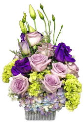 Lavender Day Table Arrangement from your local Clinton,TN florist, Knight's Flowers
