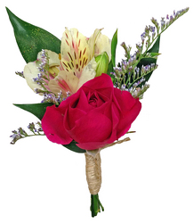 Summer Lovin' Boutonniere from your local Clinton,TN florist, Knight's Flowers