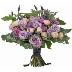 Perfectly Purple Wedding Bouquet from your local Clinton,TN florist, Knight's Flowers