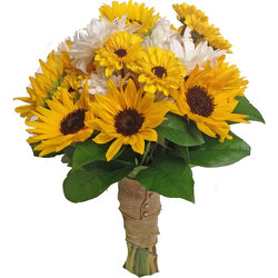 Sunflower Bride Bouquet from your local Clinton,TN florist, Knight's Flowers
