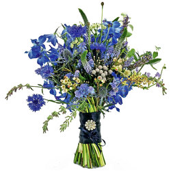 True Blue Wedding Bouquet from your local Clinton,TN florist, Knight's Flowers