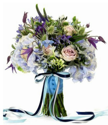 Blue Bells Bride Bouquet from your local Clinton,TN florist, Knight's Flowers