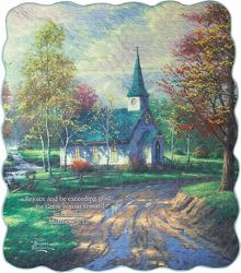 The Aspen Chapel Inspirational Quilt from your local Clinton,TN florist, Knight's Flowers