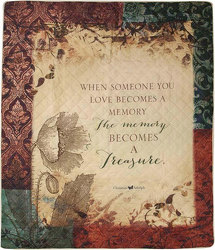 When Someone You Love Becomes A Memory Inspirational Quilt from your local Clinton,TN florist, Knight's Flowers