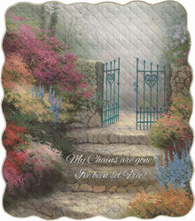 The Garden of Promise  Inspirational Quilt from your local Clinton,TN florist, Knight's Flowers