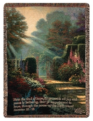 Garden of Grace Tapestry Throw from your local Clinton,TN florist, Knight's Flowers