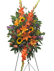 Autumn Harvest Standing Spray from your local Clinton,TN florist, Knight's Flowers