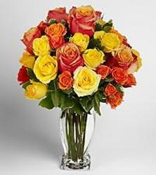 Fall Sorbet  Rose Bouquet from your local Clinton,TN florist, Knight's Flowers
