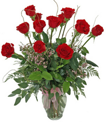World's Greatest Dozen Red Rose Arrangement from your local Clinton,TN florist, Knight's Flowers