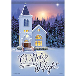 Small O Holy Night Garden Flag from your local Clinton,TN florist, Knight's Flowers