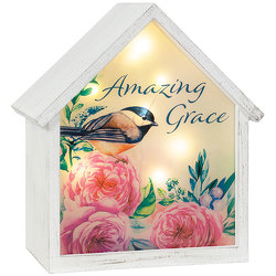 Amazing Grace LED House from your local Clinton,TN florist, Knight's Flowers