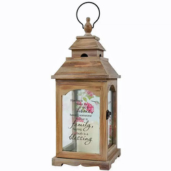 Family Wooden Lantern with LED Candle from your local Clinton,TN florist, Knight's Flowers