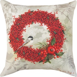 Winter Berry Indoor/Outdoor Pillow  from your local Clinton,TN florist, Knight's Flowers