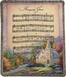 Church in the Country Tapestry Throw from your local Clinton,TN florist, Knight's Flowers