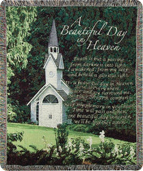 A Beautiful Day in Heaven Tapestry  from your local Clinton,TN florist, Knight's Flowers