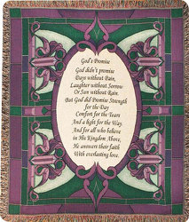 GOD'S PROMISE TAPESTRY THROW from your local Clinton,TN florist, Knight's Flowers