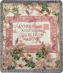 Every Good & Perfect Gift Tapestry Throw from your local Clinton,TN florist, Knight's Flowers