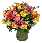 Roses & Lilies Bouquet from your Clinton, TN florist