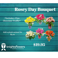 Rosy Day Bouquet from your local Clinton,TN florist, Knight's Flowers
